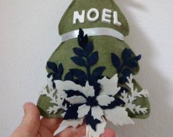 felt tree and handmade felt
