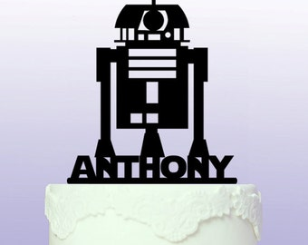 Personalised R2D2 Star Wars Cake Topper