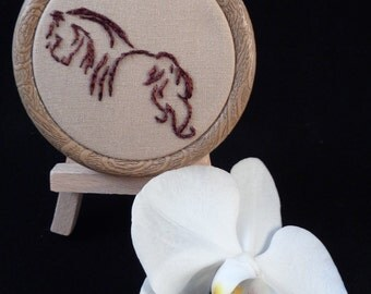 Hand embroidered pendantor wall decoration