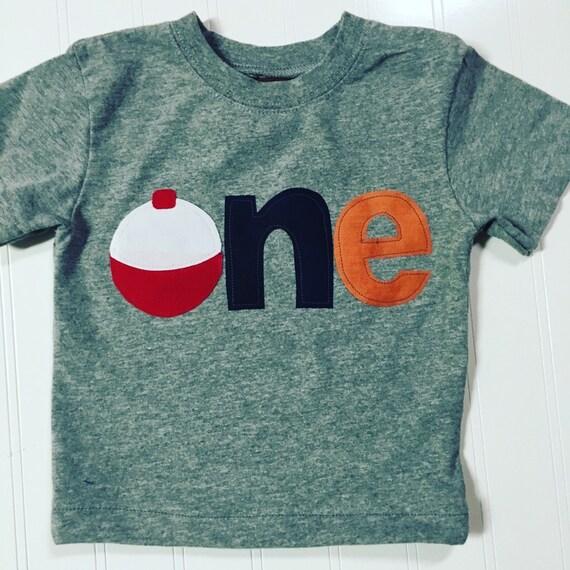 Boys 1st birthday shirt fishing bobber one by for Baby fishing shirts