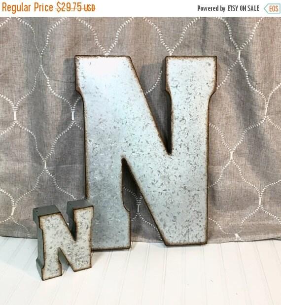 mega sale metal letters letter n large letter by theshabbystore. Black Bedroom Furniture Sets. Home Design Ideas