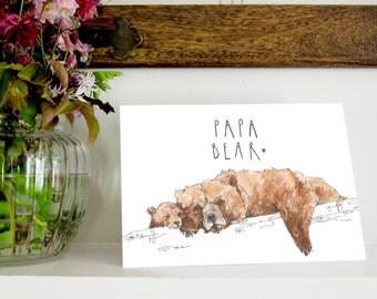 Bears 'Papa Bear' Greetings Card