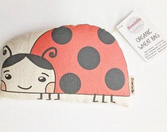 Organic Wheat Bag - Ladybird illustration