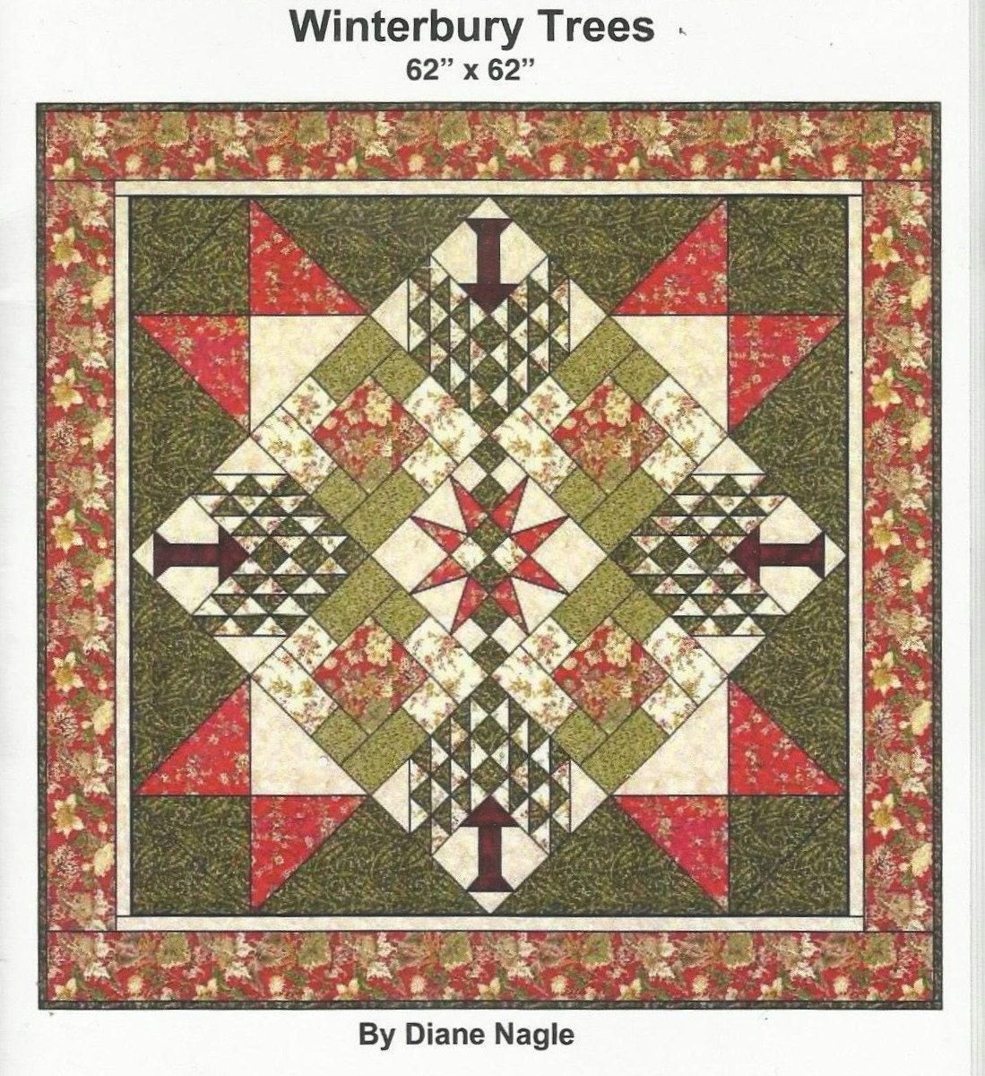 Peddlecar Quilts Winterbury Trees Quilt pattern Christmas