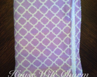 Purple Lattice burp cloth- Ready to Ship!
