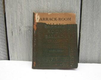 Kipling, Barrack-Room Ballads pocket book, Rudyard Kipling, leather pocket Kipling book, leather bound book, leather book