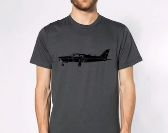 """KillerBeeMoto: Limited Release Piper PA-28 Cherokee Airplane """"Arrow"""" Short Or Long Sleeve T-Shirt"""