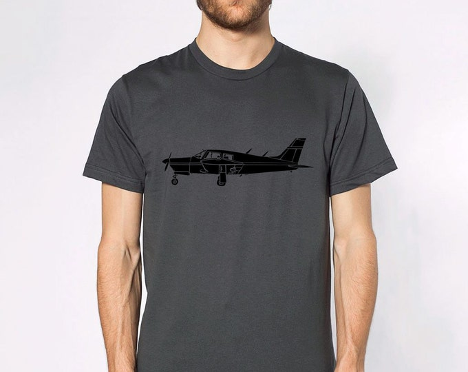 "KillerBeeMoto: Limited Release Piper PA-28 Cherokee Airplane ""Arrow"" Short Or Long Sleeve T-Shirt"