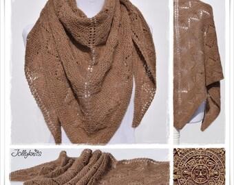 Knitting Pattern Lace Shawl Azteca