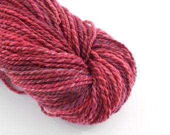 Handspun mérinos , red dark pink