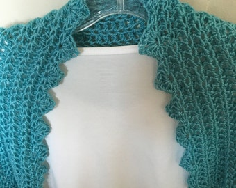 Pale Blue Shrug With Versatile Sleeves