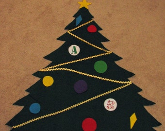 felt Christmas tree, toddler Christmas tree, preschool Christmas tree, toy kids Christmas tree,