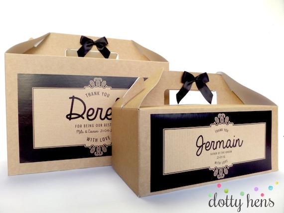 Personalised Wedding Favour Gift Box Kraft Ornate By DottyHens