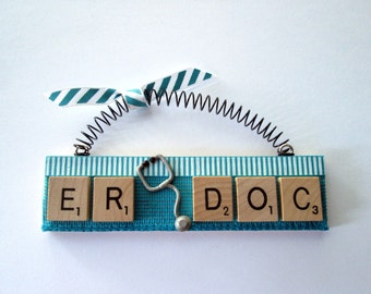 ER Trauma Doctor Scrabble Tile Ornament