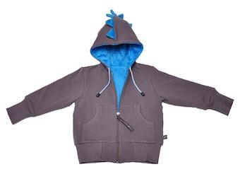 Toddler Gift DINOSAUR Kids Jacket, Birthday Toddler Gift, Dinosaur hoodie, Boy Toddler Jacket, Dinosaur Jacket, Fast Shipping, Ready to ship