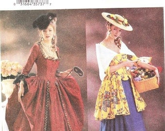 Butterick 3640 Misses' 18th Century Costume Pattern, 6-10