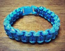 Blue Patterned Paracord Bracelet