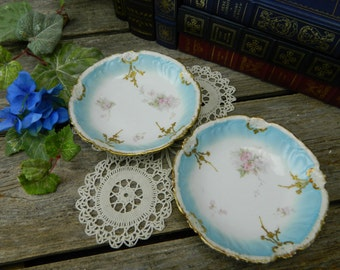 Set of 2 Antique A & D Limoges France Dessert Bowls