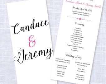 Simple Wedding Program / #607