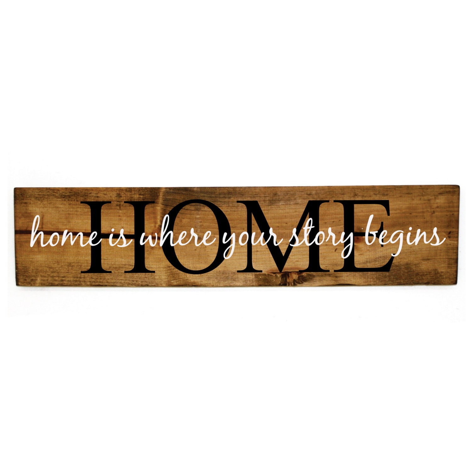 Home is where your story begins wood sign - Wood home decor, Rustic ...