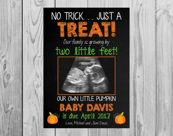 fall pregnancy announcement cards