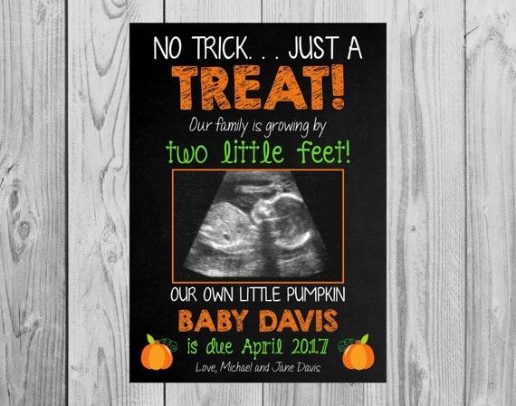 Pregnancy Announcement Card: Fall Themed Pregnancy Announcement Card Pregnancy