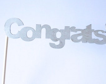 "Wooden Photobooth Prop | ""Congrats!"" Photobooth Prop 