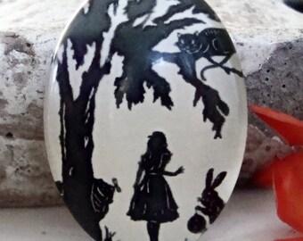 Wonderland Glass Cabochon 18x15