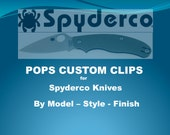Custom Titanium Deep Carry Clips for Spyderco Knives