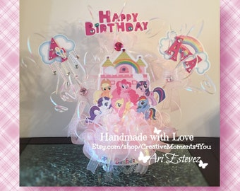 My Little Pony Castle Cake topper