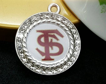 FSU, Florida State University Charm, Sports Charm, Rhinestone Charms, // Noles Charms Close Out!!