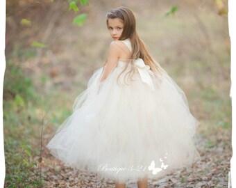 Champagne tutu dress, Ivory Tutu Dress, White tutu dress, Champagne flower girl dress, Ivory flower girl dress, White flower girl dress,