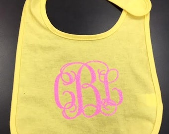 Monogram Jersey Baby Bib