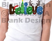 Christmas Believe SVG AND DXF File
