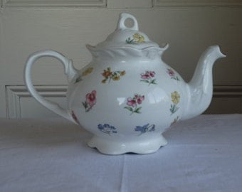 Vintage Arthur Wood & Son Floral Teapot. Made in England