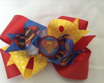 Super Hero Hair Bow
