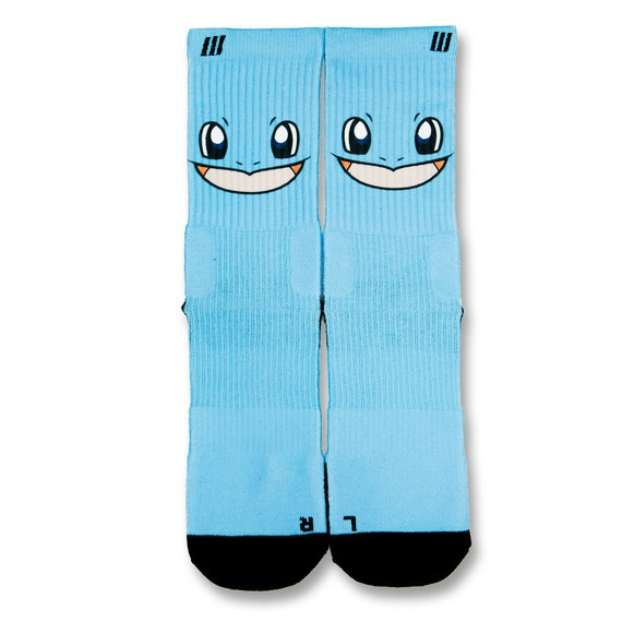 Squirtle customize elite socks by customizeelitesocks on etsy
