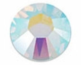 CRYSTAL AB Swarovski Crystal Flatback Rhinestones. Item 2058. No-Hotfix.  ss5 ss7 ss9 5ss 7ss 9ss