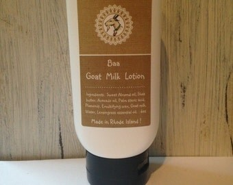 Goat milk lotion