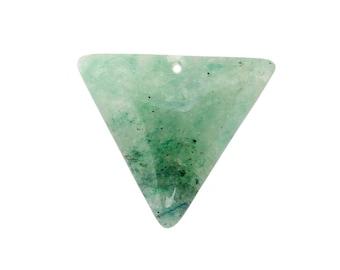 Amazonite Drilled Bead - Top Center Drilled Triangle Amazonite Bead - (RK103B8-01)