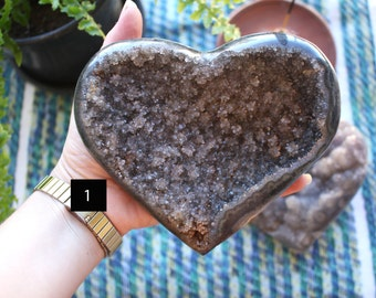 Agate Druzy Heart - You Choose - Home Decor - Chakra Stones and Crystals - Agate Druzy - (RK83B5)