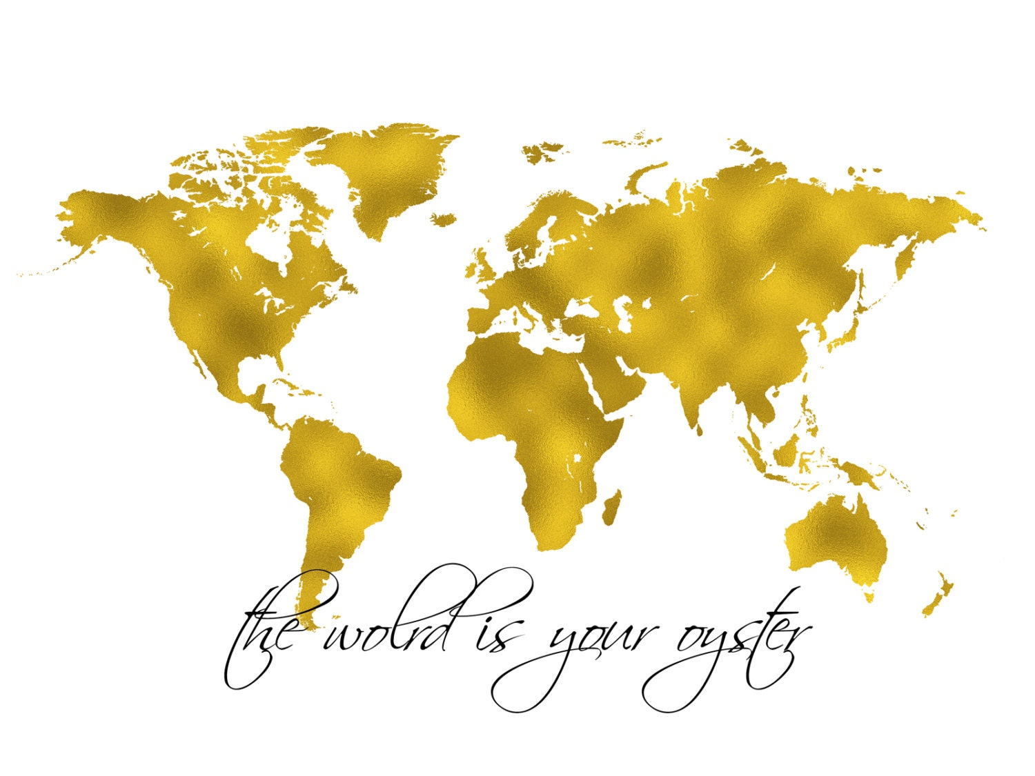 World map gold print gold map printable wall art the world is world map gold print gold map printable wall art the world is your gumiabroncs Image collections
