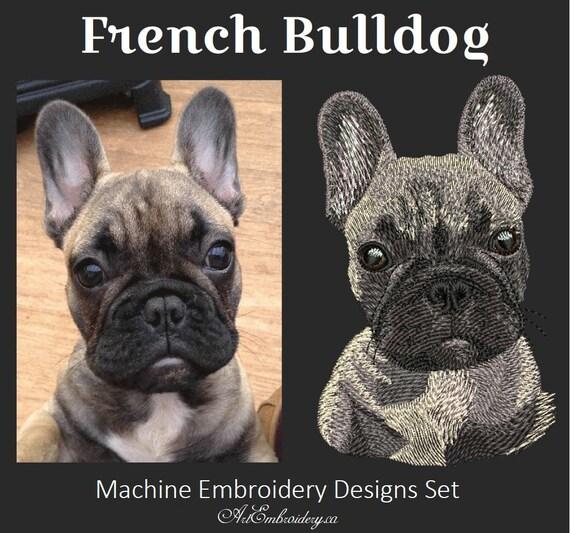 French Bulldog Machine Embroidery Designs