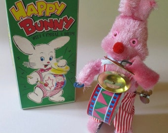 Vintage Japanese Wind Up Happy Bunny