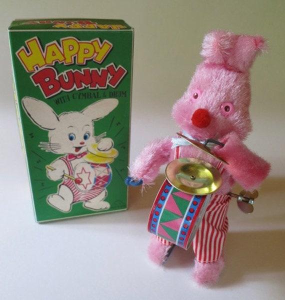 Vintage Japanese Wind Up Happy Bunny