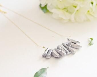"""Necklace """"Titanium"""" gold plating and titanium"""