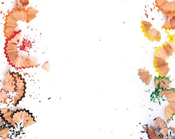 Pencil Shavings Photo Backdrop // Polypaper Photography Backdrop // SIZES: 5'x5', 5'x6', 5'x7', 5'x8' //