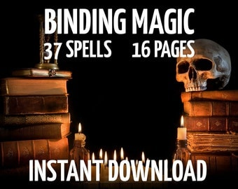 16 Book of Shadows Pages on Binding, Witchcraft, Wicca, Charmed, BOS Pages, Witchcraft Book, Wicca Book, Digital Wiccan Instant Download