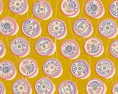 In Stock!   Fat Quarter of Trinket Spools in Yellow by Melody Miller for Cotton and Steel