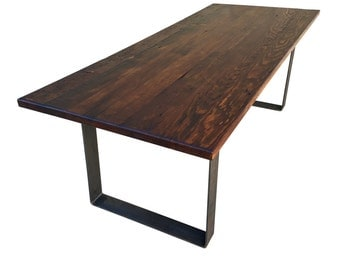 Reclaimed Wood Industrial Style Dining Table/Desk